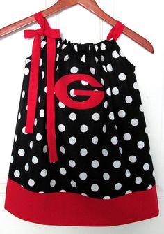 University of Georgia Black Pillowcase Dress by jamnjelli on Etsy, @LaurieAnne Proctor