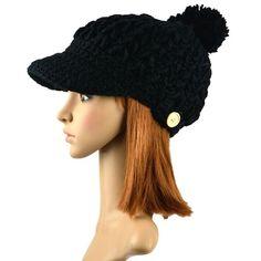 07705e8074e Women s Wool Winter Hat Thick line hat Ball Cute Hat Warm Flight Hat Peaked  Cap