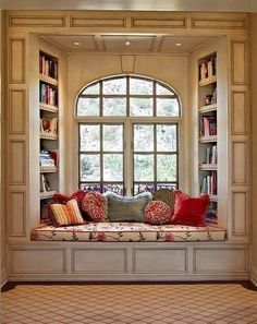 Creative Window Seat Ideas beautiful comfy looking little reading spot :)