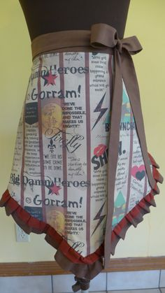 I WANT THIS!!!!! Firefly Apron- Browncoat's Unite. $38.00, via Etsy.