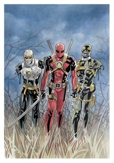 #Deadpool #Fan #Art. (Deadpool + The Walking Dead) By: Thony Silas. (THE * 5 * STÅR * ÅWARD * OF * MAJOR ÅWESOMENESS!!!™) ÅÅÅ+