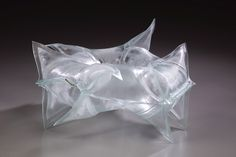 "C. Matthew Szosz -- Untitled (Inflatable) No. 43 Fused and inflated glass 20""x20""x10"" 2008"