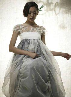 Designed by Lee Hye Soon korean dress inspired by hanbok Korean Traditional Dress, Traditional Fashion, Traditional Dresses, Traditional Wedding, Korean Dress, Korean Outfits, Hanbok Wedding, Modern Hanbok, Korean Wedding