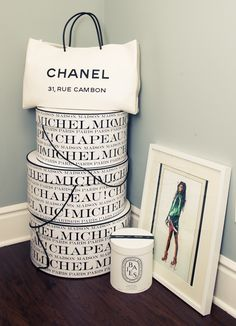 Hat boxes as home decor? Pretty packaging can serve as interesting accent pieces in any room. Via The Coveteur