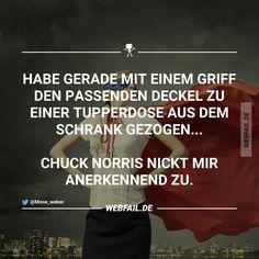 Der passende Deckel zu meiner Tupperdose...Chuck Norris nickt mir anerkennend zu