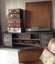 Meubles TV industriel bois et métal - L'or du Temps