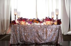 Sweetheart with sparkly tablecloth :0)