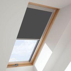 Bright Blue Roof Skylight Blind For Fakro Windows Skylight Design, Skylight Window, Roof Window, Blinds For Velux Windows, House Windows, Bedroom Windows, Keylite Blinds, Fakro Blinds, Window Blinds