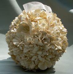 Paper Flower kissing ball for weddings  . $40.00, via Etsy.