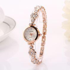 1e266cc6ba6 Barato 77 moda Hot venda de aço inoxidável relógio de pulso relógio de luxo  relógio de mulheres XR717