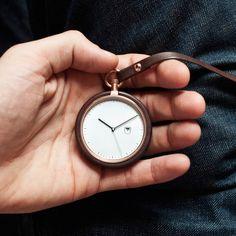 MMT Calendar Watch in Walnut, $220 !!