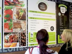 lovely menu board design by Robot Food