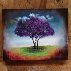 Original Purple Tree Painting Joel Wright. Check these 5 purple trees and tell me which one you like best.