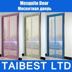 verão mosquito cortina portiere porta de tela magnética magnet tarja magic mesh em Cortinas de Casa & jardim no AliExpress.com