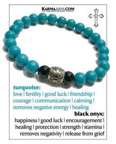 Move Wellness Self-Care Meditation Mantra Yoga Bracelets. Mens Wristband Jewellery. Turquoise.