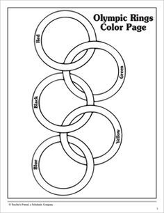 Olympic Rings: Coloring Page