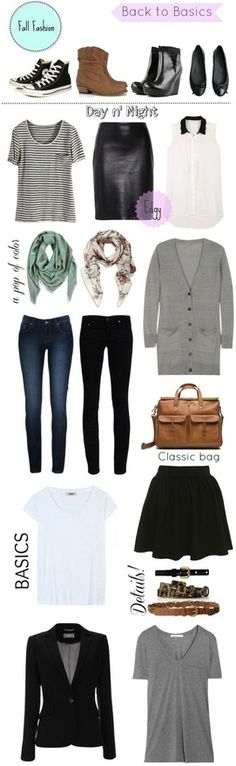 Great advice! How To Build A Basic Wardrobe For Fall
