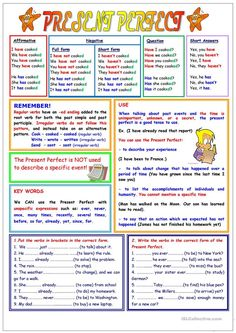 Present Perfect (2 pages)