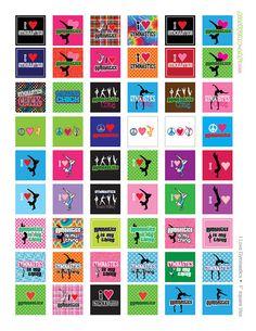 I LOVE Gymnastics 1 squares Digital Collage by jellybeanlab, $3.50
