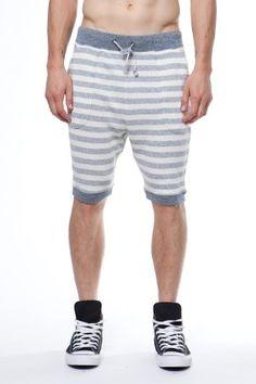 Matiere Horizontal Stripe Sweat Short