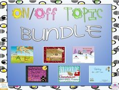 Buy the bundle and save over 25%!Reinforce on/off topic with your students through activities centered around seasons/holidays..Each packet includes:Training Cards. 8 sets of color and 8 sets of blackline cards.To play:Put the A cards in one stack; the B cards in another stack.