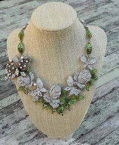 Swarvoski Bridal Statement Necklace Crystal by TrueRebelClothing, $78.00