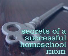Secret of a successful homeschool mom