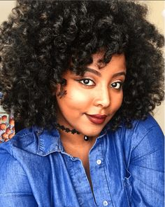 Lovely Voluminous Curls IG:@thick_east_african_girl  #naturalhairmag #naturalhair
