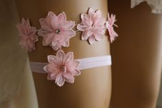 Wedding Garter Pink Lace Bridal GarterBridal by byPassion on Etsy
