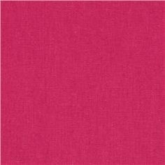 Kaufman Essex Linen Blend Hot Pink on Fabric.com; $6.98/yard