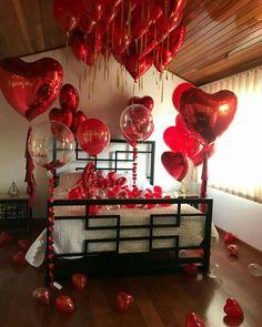 Birthday Room Decorations, Anniversary Decorations, Valentine Decorations, Romantic Valentines Day Ideas, Romantic Date Night Ideas, 1 Year Anniversary Gifts, Anniversary Surprise, Happy Birthday Celebration, Cute Birthday Gift
