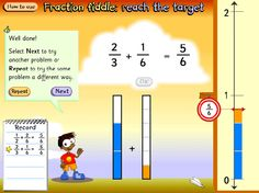 The addition of and to reach the target of shown with fraction bars and a number line. Fractions Year 3, Fraction Bars, Being Used, Target, Number, Activities, Math, Google, Math Resources