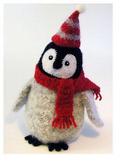 needlefelted penguin