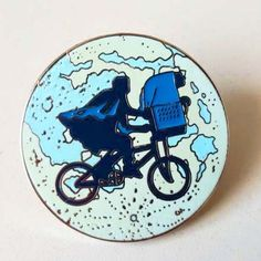 "E.t. & elliot 1.5"" lapel pin"
