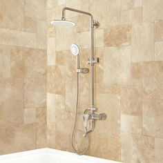 Regan Exposed Pipe Tub and Shower Set with Hand Shower