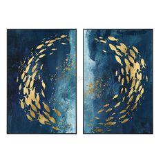 Texture Art, Texture Painting, Art Original, Original Paintings, Acrylic Painting Canvas, Canvas Art, Blue Canvas, Gold Frame Wall, Framed Wall