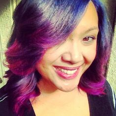 My new Purple and Pink hombre hair! =)