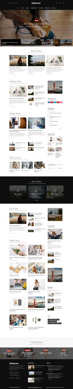 Daily Observer - Magazine, Review & News Portal Ready WordPress Template…