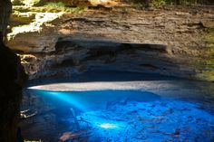 Enchanted Well at Chapada Diamantina in Bahia, Brazil /  27 Surreal Places To Visit Before You Die (via BuzzFeed)