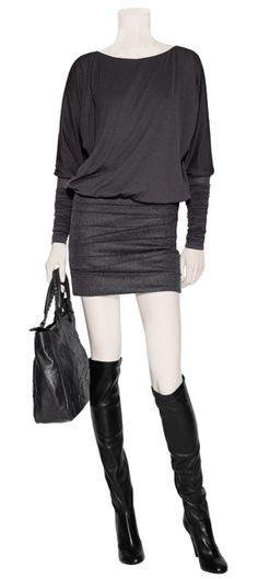 charcoal dress but w/leggings