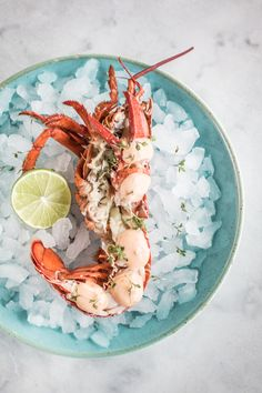 Lobster with Harissa aioli