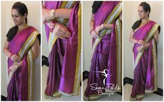 Purple with Yellow....A touch of Boldness with Grace....!!! This is exactly how we designed this Ravishing Purple SOft Silk Designer Saree with Yellow Raw Silk Border and Silver CUtwork Border. Easy to Drape...,Lovely to Feel...is what this Lovely Saree is all about! Also Matched with a Contrast Yellow Raw Silk Blouse!