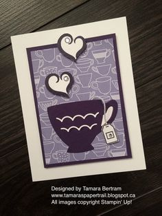 Handmade Cards; Handmade Greeting Cards; A Nice Cuppa; Cups and Kettles; Framelits; 2016 Occasions Catalogue; 2016 SAB; Stampin' Up!; Tamara's Paper Trail