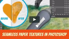 Learn how to use the GrutBrushes Photoshop Art Surfaces Paper Textures in Photoshop to add realistic paper texture, lighting and shading to your digital artwork… Photoshop Art, Paper Texture, Tutorial, Surface, Learning, Digital, Artwork, Lighting, Work Of Art