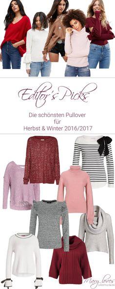 Die schönsten Pullover für Herbst und Winter 2016-2017 - Fashionpieces Pullover #pullover #herbstmode #pulli