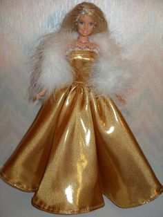 Handmade Barbie doll clothes  metallic gold by TheDesigningRose, $20.00