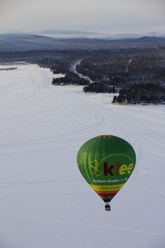 Hot air balloon, Gällivare, Swedish Lapland, february 2012.