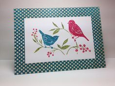 Two birds, by beesmom - Cards and Paper Crafts at Splitcoaststampers