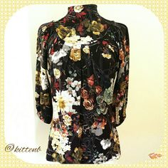 AMAZING COLORS! Just Cavalli blouse Amazing fall colors in this Just Cavalli blouse. Fabric content tags have been removed. Authentic security hologram is intact. Freshly drycleaned. Made in Italy size 44 but fits XS. Gorgeous buttons at back of neck. Just Cavalli Tops Blouses