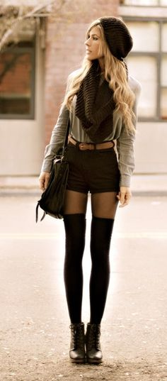 bringing back the thigh high socks. i love fall! Style 2